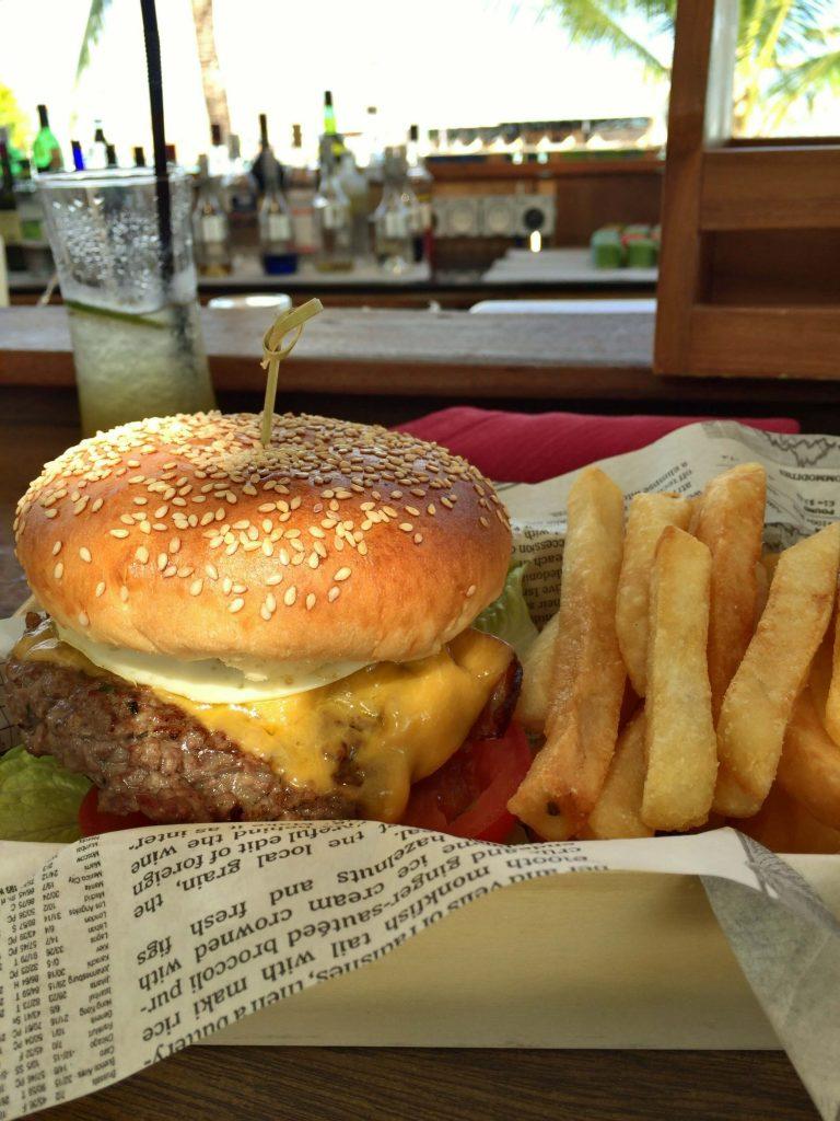 ラグーンバーのハンバーガー